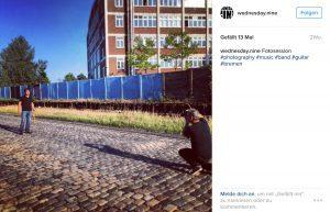 Fotosession - dokumentiert auf Instagram