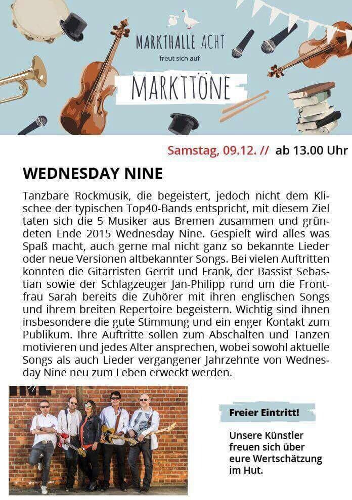 9.12.17 Konzert Markthalle Acht 13:00h