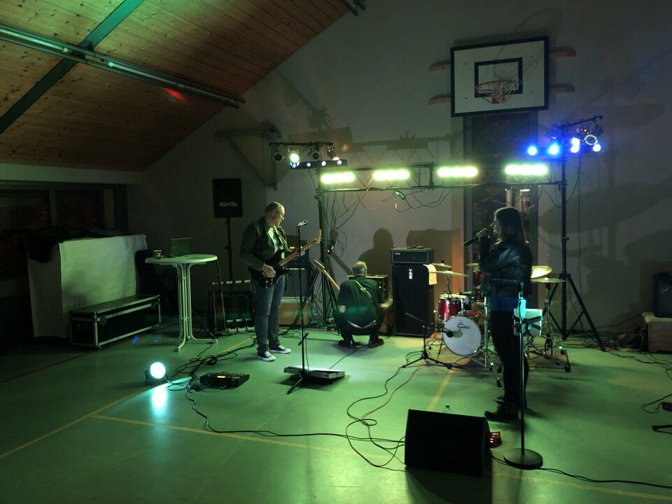 Soundcheck in der Turnhalle