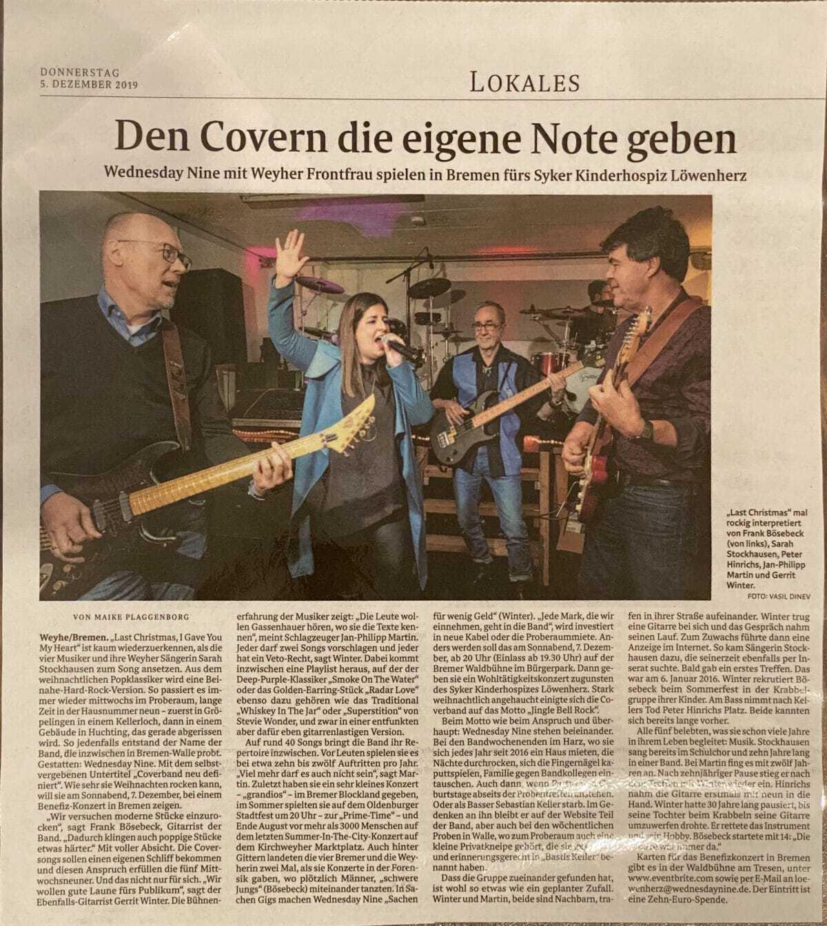 Weser-Kurier Artikel