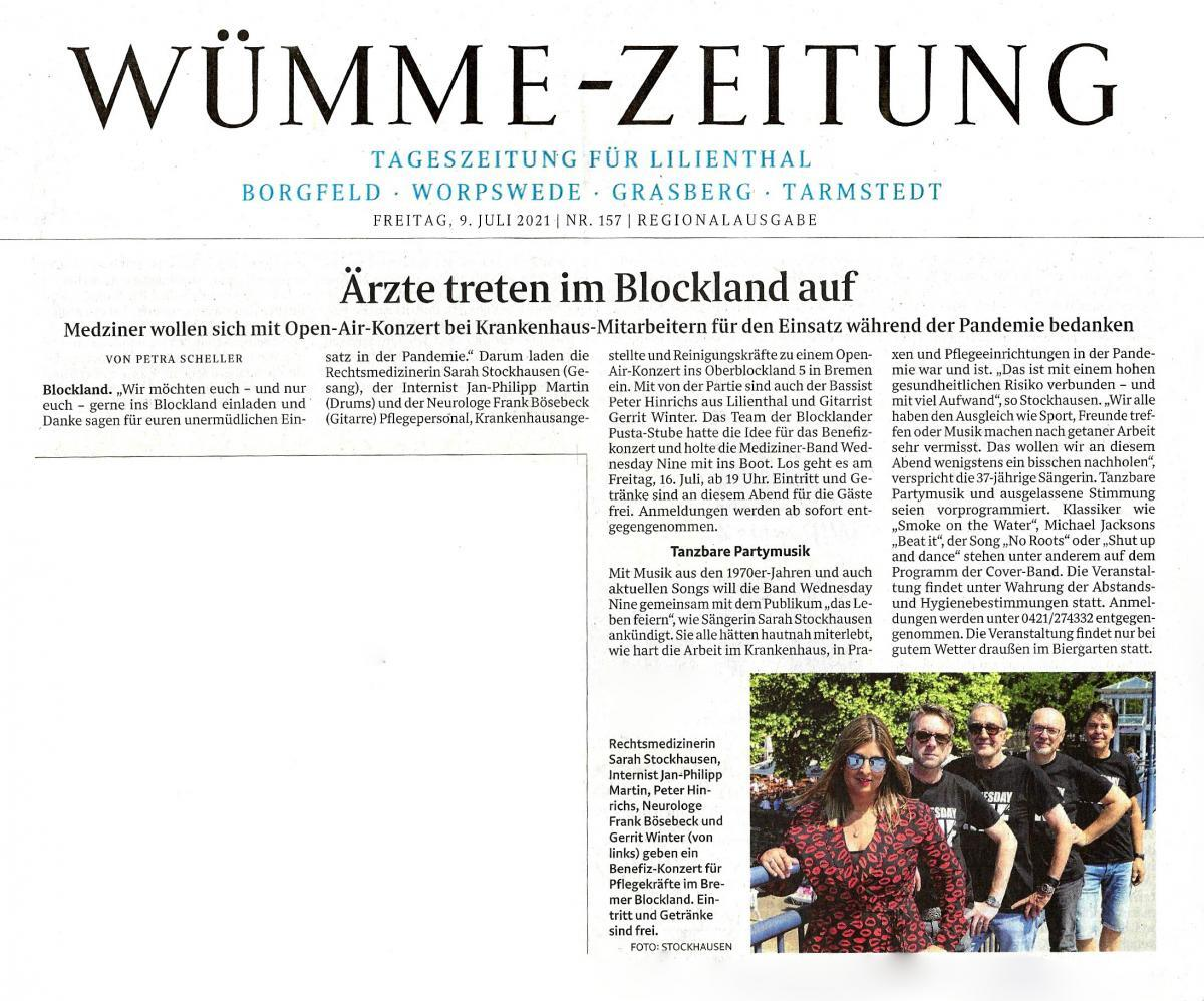 Artikel aus der Wümme-Zeitung